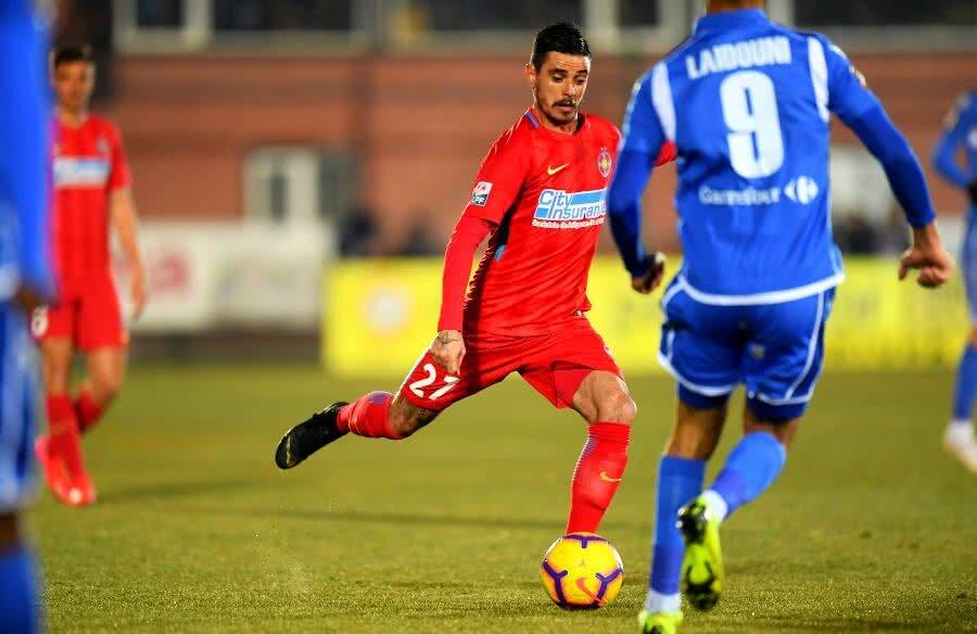 Adrian Stoian în meciul cu FC Voluntari // Foto: Raed Krishan