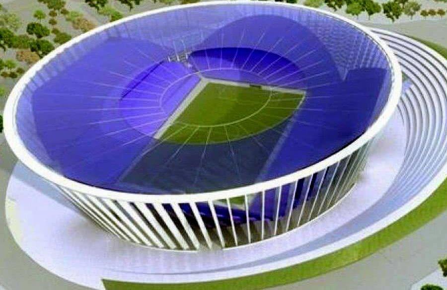 Macheta cu viitorul stadion al Timișoarei care circula în 2017