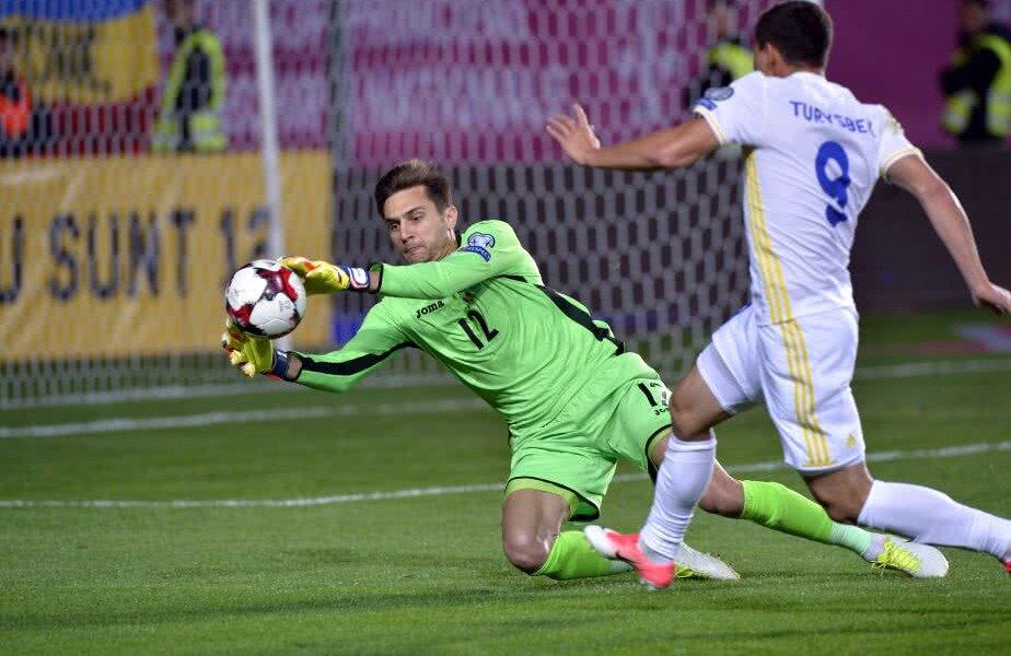 Ciprian a fost titular în poarta României în 11 din cele 14 jocuri cu Contra selecționer