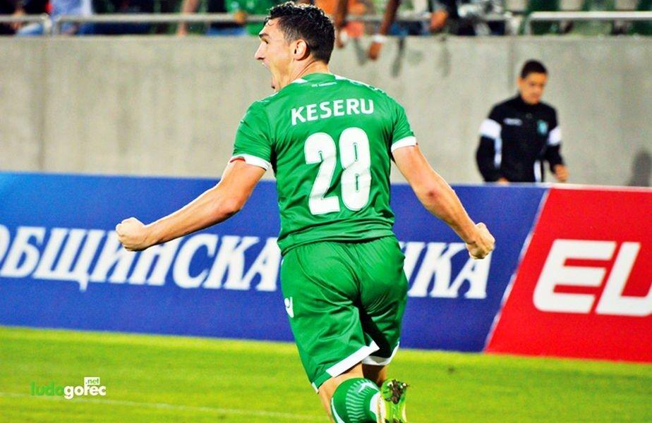 Claudiu Keșeru a înscris din nou pentru Ludogoreț
