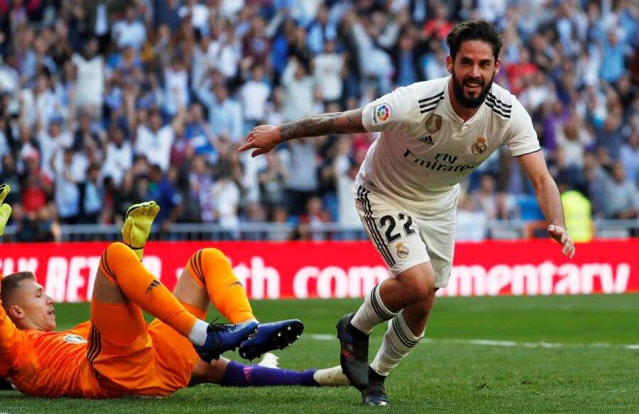 Isco a înscris la revenirea printre titularii Realului după o fază controversată // FOTO: Reuters