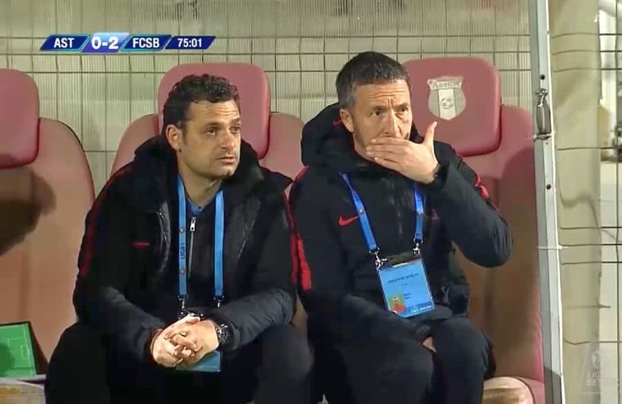 Mihai Stoica și Mihai Teja // FOTO: Captură TV Digi Sport