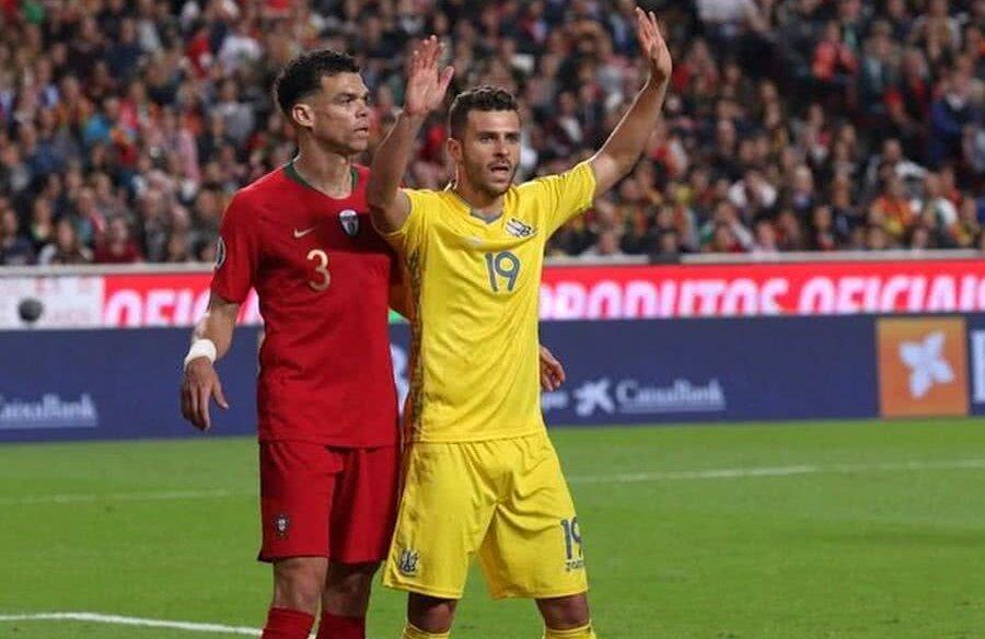 Junior Moraes în duel cu Pepe în meciul Portugalia - Ucraina // FOTO: Instagram