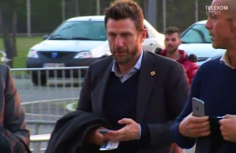 Eusebio di Francesco, la sosirea pe Arena Națională // FOTO: Captură TV Telekom Sport