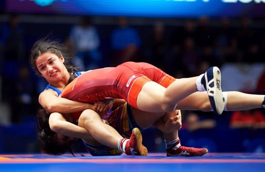 Anul trecut, în Sala Polivalentă, România a organizat Campionatele Mondiale U23. Ștefania Priceputu a obținut medalia de bronz la categoria 50 kg FOTO Raed Krishan