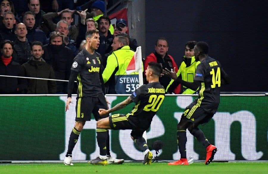 Cristiano Ronaldo, Ajax - Juventus 1-1