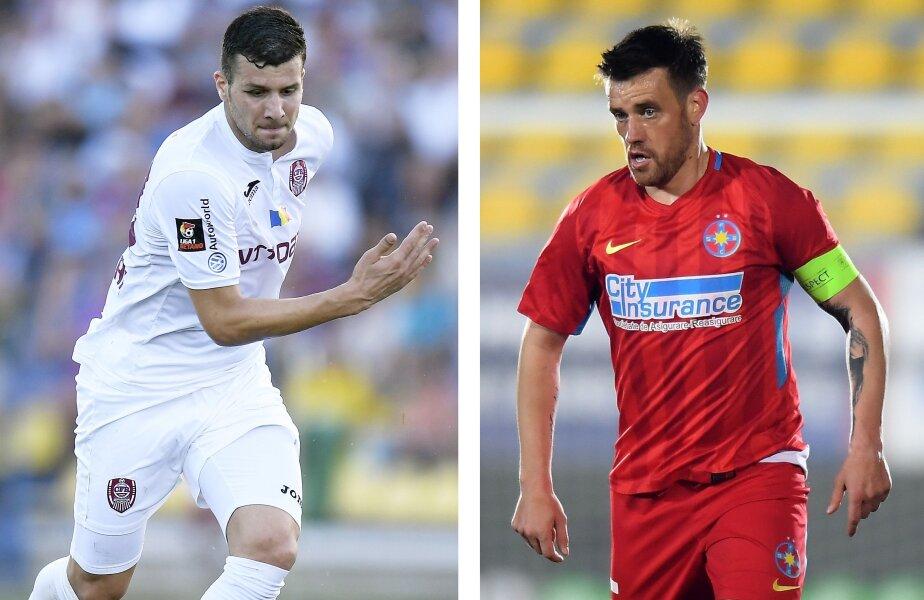 Mihai Pintilii are 215 meciuri disputate în Liga 1 FOTO Raed Krishan // Țucudean are cifre formidabile în ultimii 2 ani, în tricoul celor de la Viitorul și CFR: 36 de goluri în 64 de meciuri în Liga 1 FOTO Raed Krishan