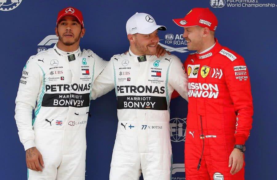 Lewis Hamilton, Valtteri Bottas, Sebastian Vettel // FOTO: Reuters
