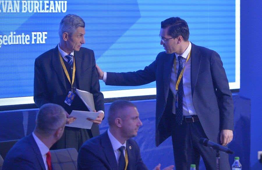 Tudor Iacov și Răzvan Burleanu la Adunarea Generală // Foto: Cristi Preda