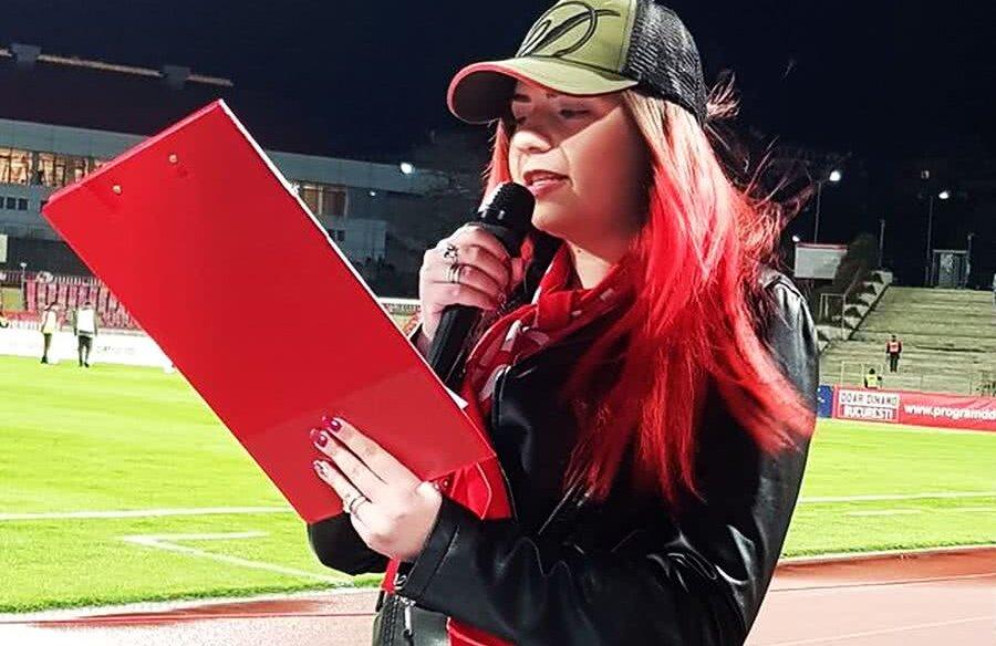 Alexandra Stîngă, luni seara la Dinamo - FC Botoșani 1-0 // Sursă foto: Facebook Fotografii din Peluză