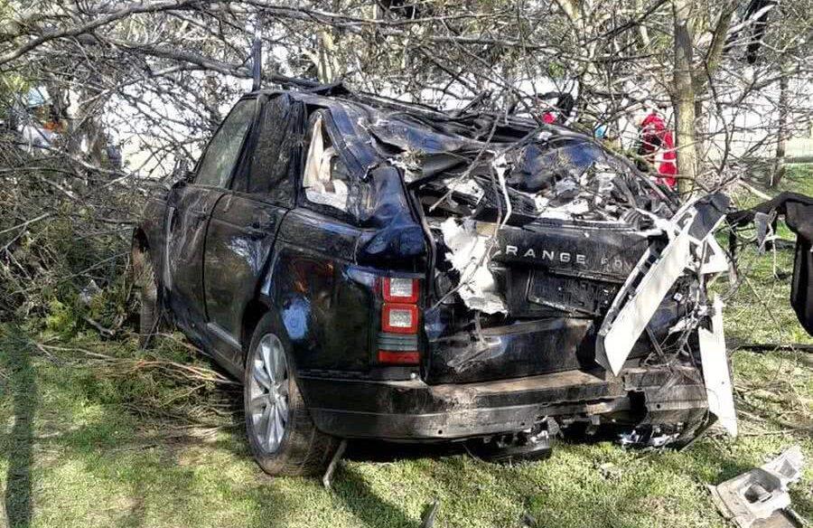 Mașina pe care o conducea Răzvan Ciobanu FOTO: libertatea.ro