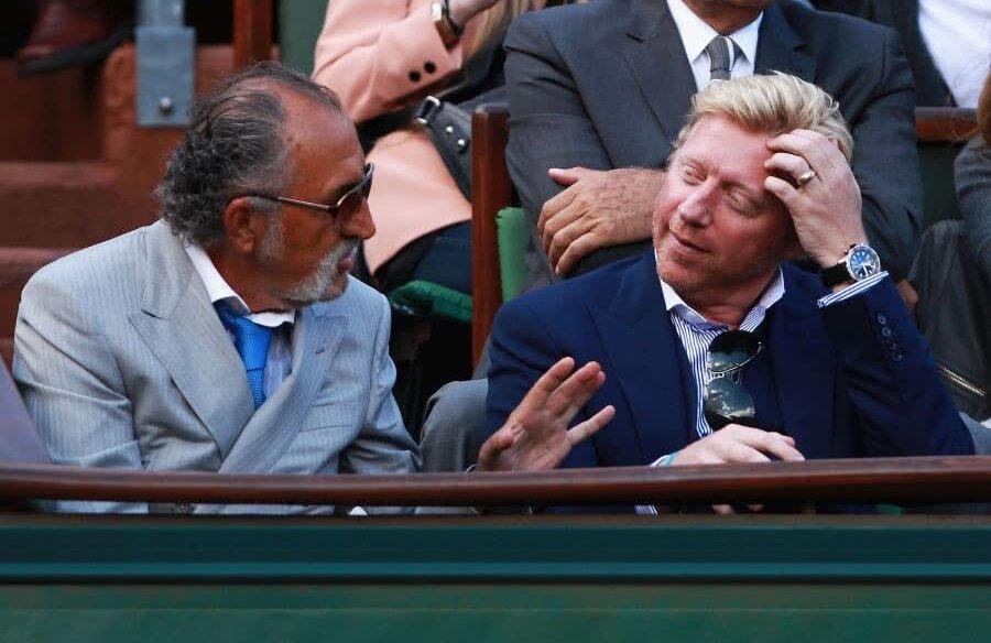 Ion Țiriac și Boris Becker în lojă la Roland Garros 2012 Foto: Guliver/GettyImages