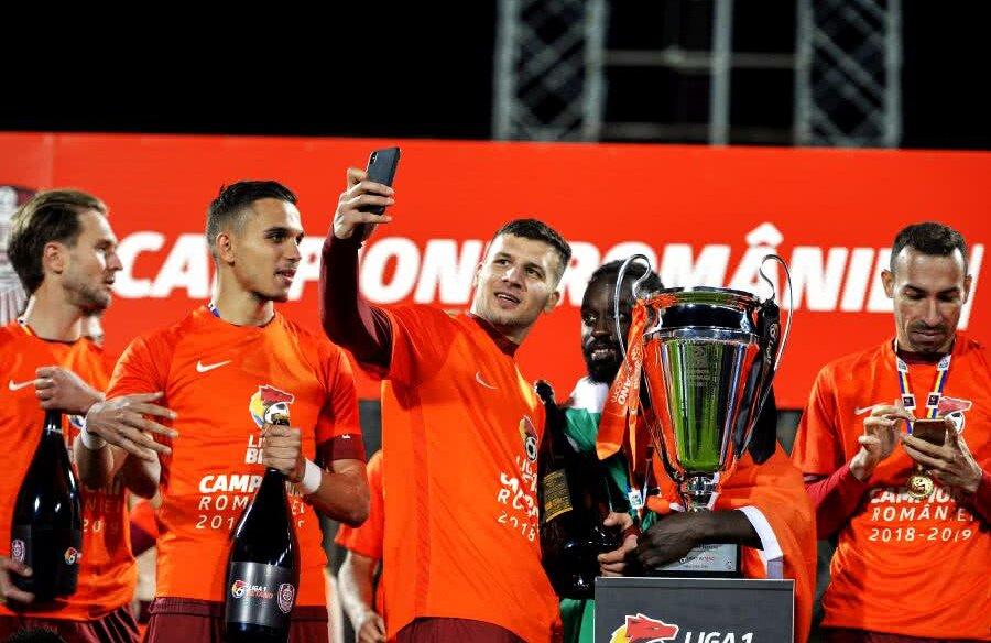 George Țucudean a înscris 18 goluri pentru CFR Cluj în acest sezon // FOTO: Raed Krishan