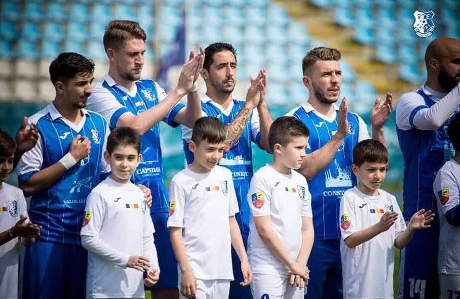 Echipa Farul Constanţa din Liga 2, sursă foto: Facebook Constanţa