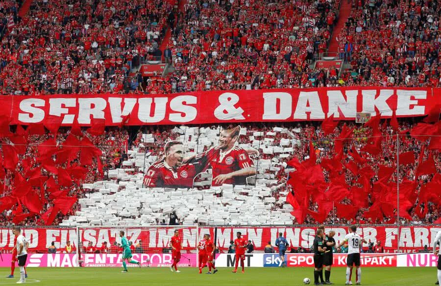 Ribery, Robben și Rafinha și-au luat rămas bun de la fanii lui Bayern Munchen // FOTO: Reuters, Guliver/Getty Images