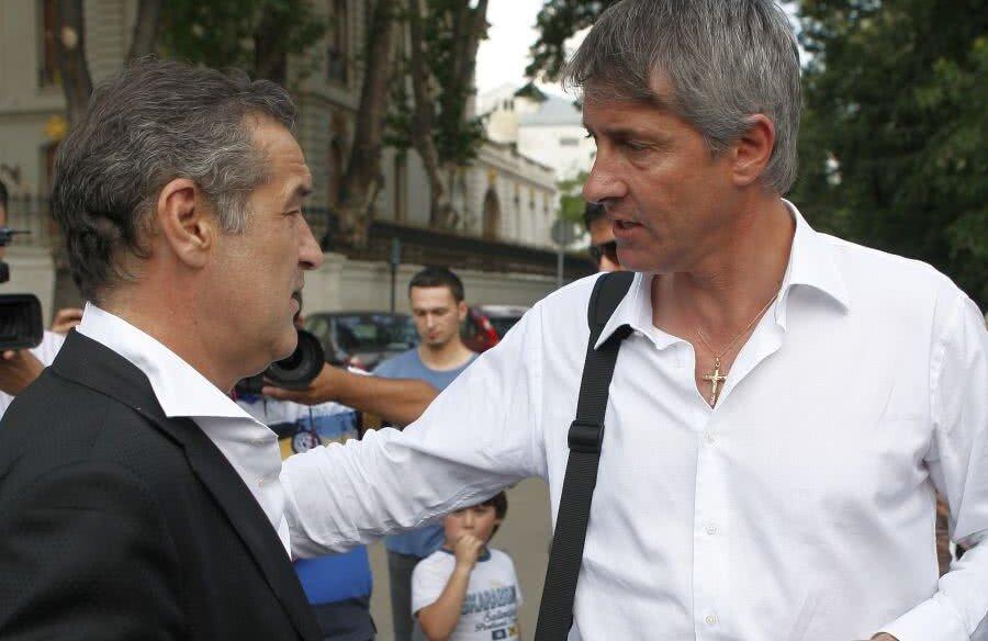 Gigi Becali și Cristiano Bergodi, în 2009, la Palatul patornului FCSB