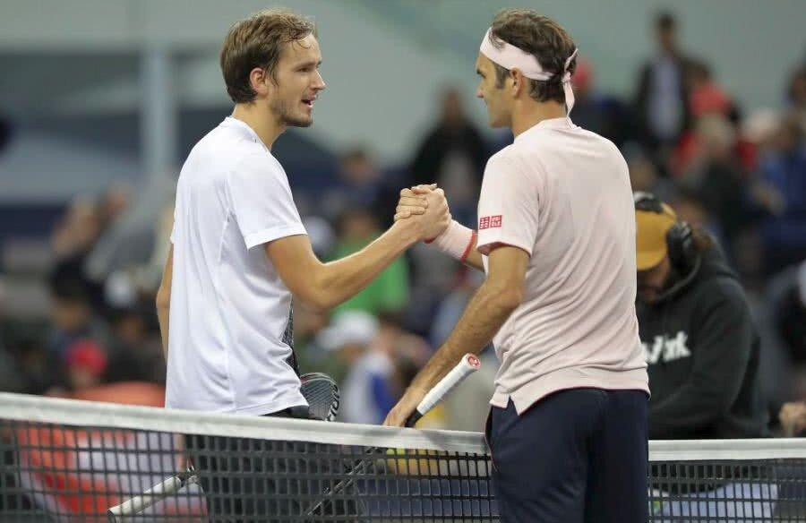 Medvev și Federer FOTO: Guliver/GettyImages