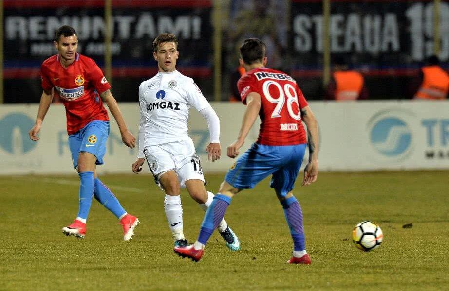 Deși are doar 21 de ani, Olaru are deja 77 de meciuri jucate în Liga 1
