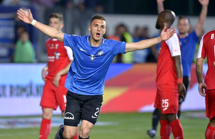 Virgil Ghiță a înscris golul de 1-1 și a reaprins speranțele echipei lui Hagi // FOTO: Cristi Preda