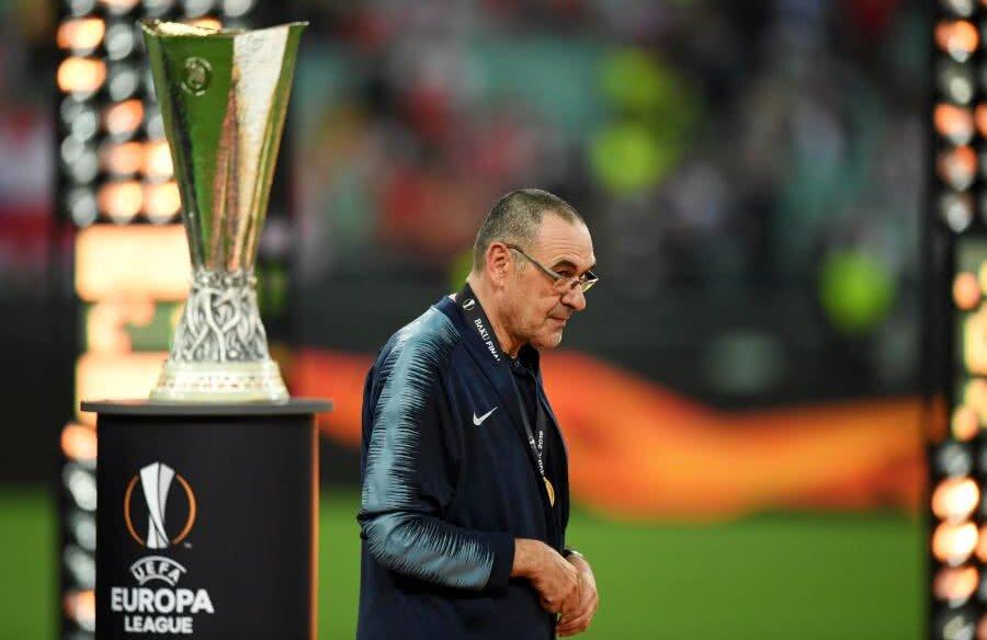 Maurizio Sarri a cucerit primul său trofeu alături de Chelsea // foto: Guliver/Getty Images