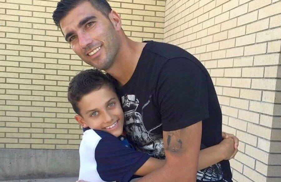 Jose Antonio Reyes și fiul său