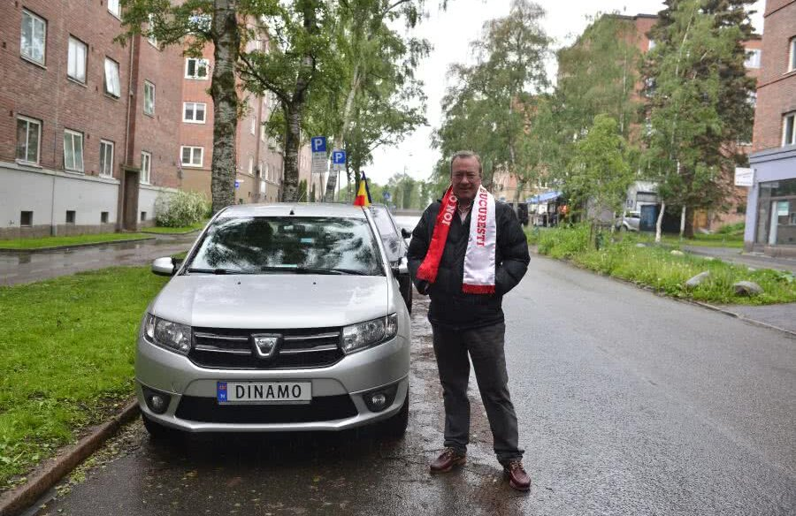 """Cel mai mare dinamovist locuiește în Norvegia și și-a înmatriculat mașina cu numeșe """"Dinamo"""""""
