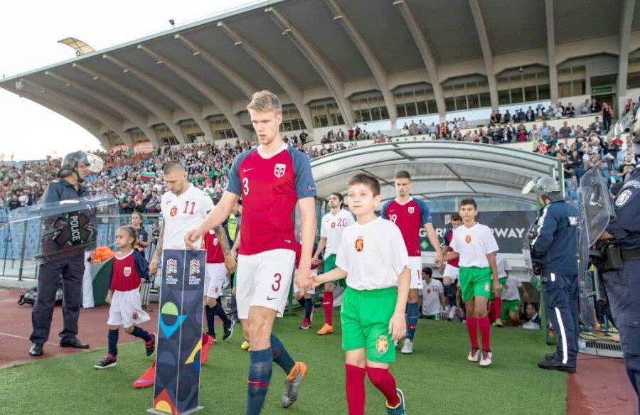 Kristoffer Ajer, 21 de ani, este cel mai înalt fotbalist al gazdelor FOTO: Guliver/GettyImages