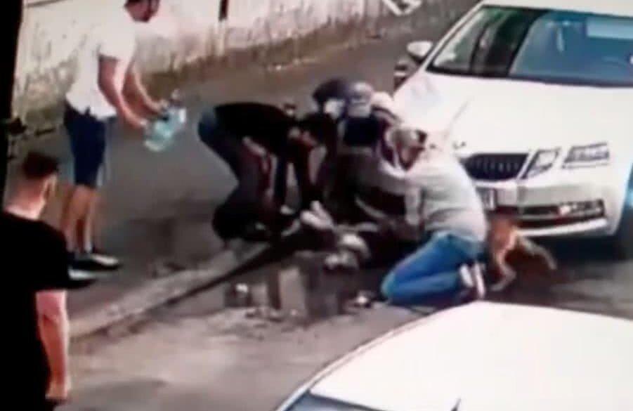 Un Amstaff lăsat liber a atacat un alt câine