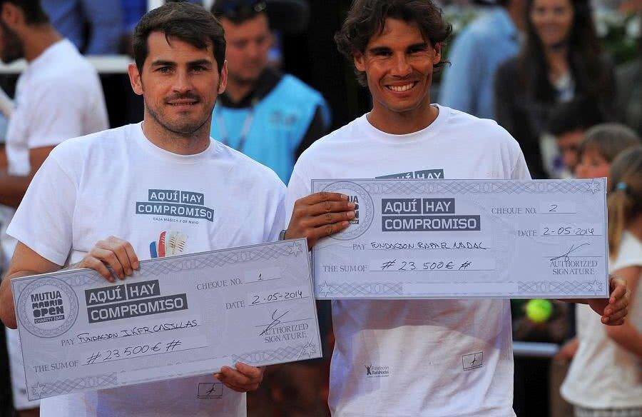 Rafael Nadal și Iker Casillas, doi dintre cei mai mari sportivi ai Spaniei // FOTO: Guliver/Getty Images