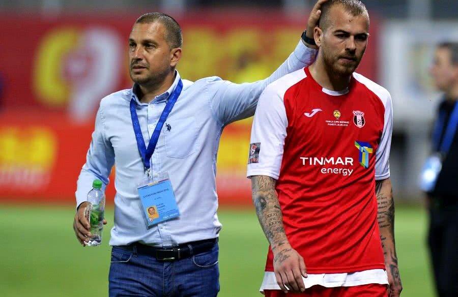 Denis Alibec și Costel Enache au avut o relație bună la Astra // FOTO: Cristi Preda (Gazeta Sporturilor)