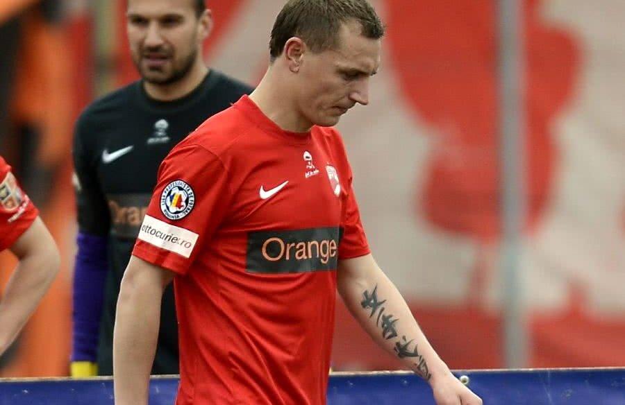 Ionuț Cioinac, după singurul meci jucat în tricoul lui Dinamo // FOTO: Gazeta Sporturilor