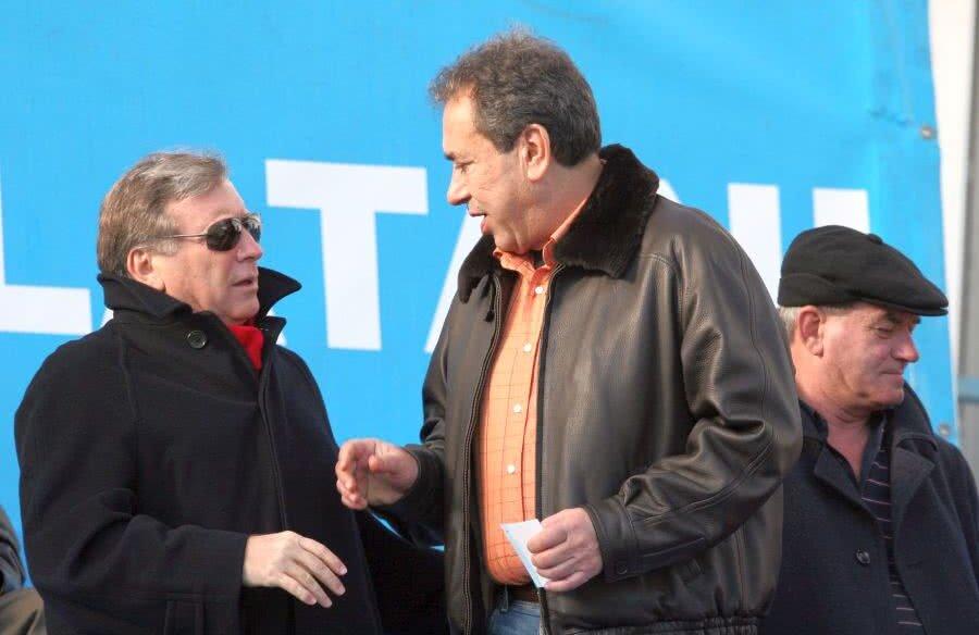 Vladimir Cohn, stânga imaginii, și Nicolae Badea