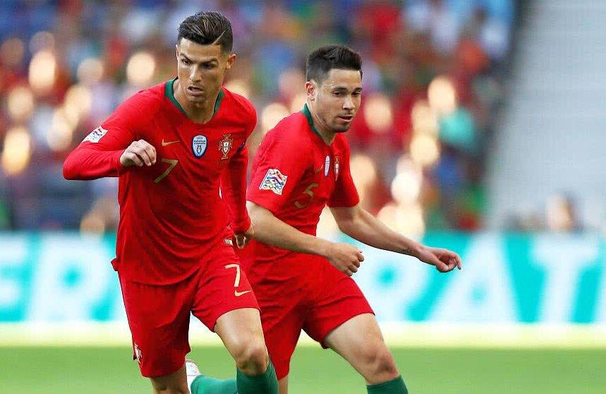 Raphael Guerreiro, alături de Cristiano Ronaldo la naționala Portugaliei, foto: Guliver/gettyimages