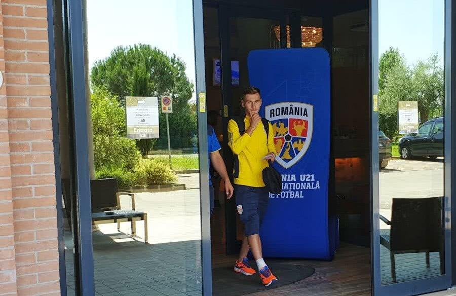 Denis Drăguș a părăsit cantonamentul echipei naționale de tineret, din cauza unei accidentări // Foto: Raed Krishan