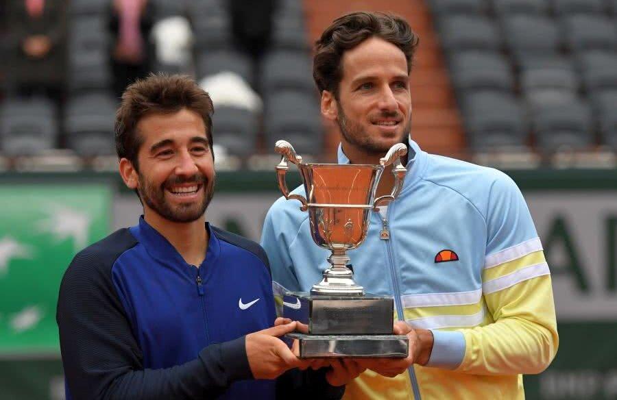 Marc Lopez, în stânga, și Feliciano Lopez la Roland Garros 2016 // FOTO: Guliver/GettyImages
