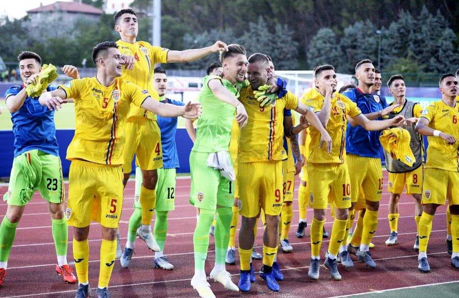 România U21, bucurie după 4-1 cu Croația U21, foto: Raed Krishan/GSP