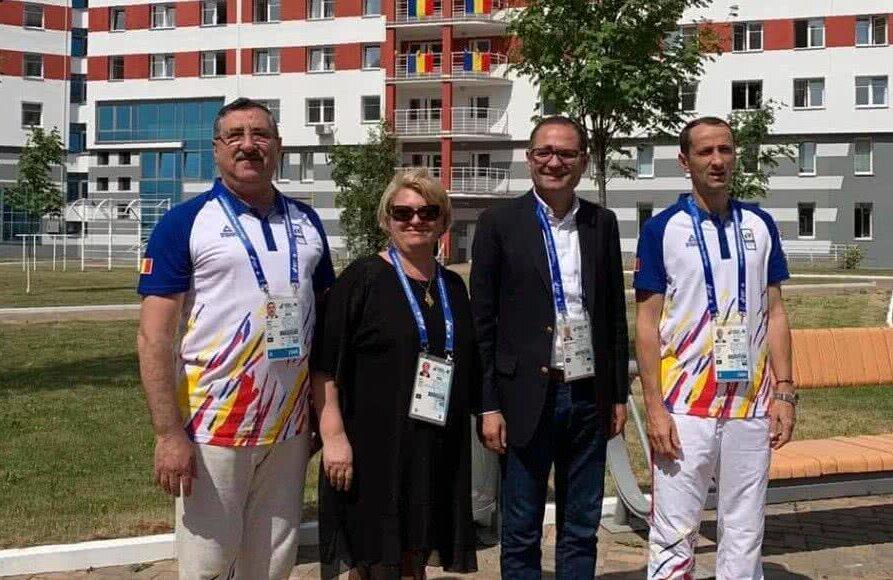 FOTO: Facebook MTS // Doinea Gradea, la Jocurile Europene de la Minsk, alături de George Boroi, Bogdan Matei și Mihai Covaliu