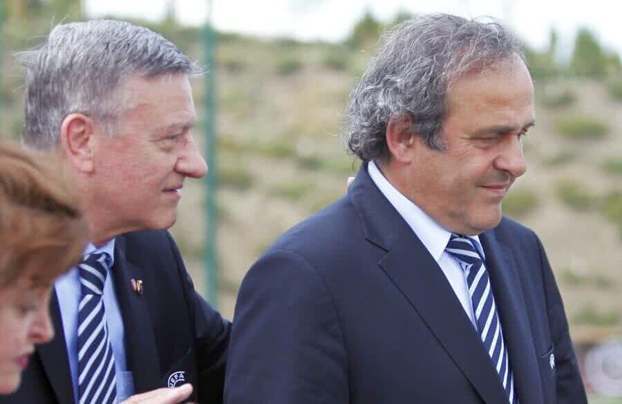 Mircea Sandru și Platini