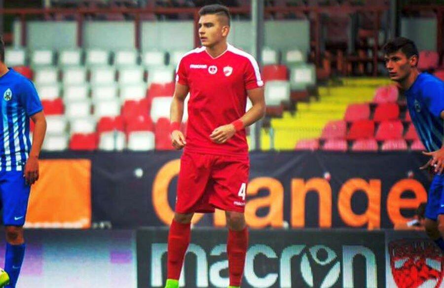 Vlad Motroc, în tricoul lui Dinamo U19