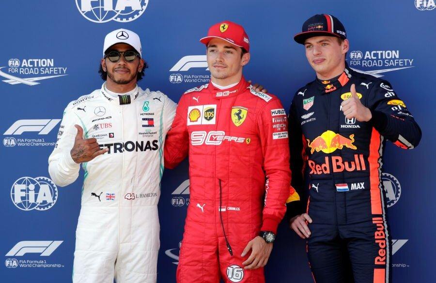 Leclerc, Hamilton și Verstappen // FOTO: Reuters