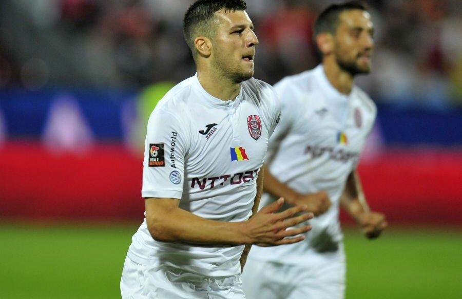 George Țucudean a înscris unicul gol al victoriei cu Sparta Praga // foto: Gazeta Sporturilor