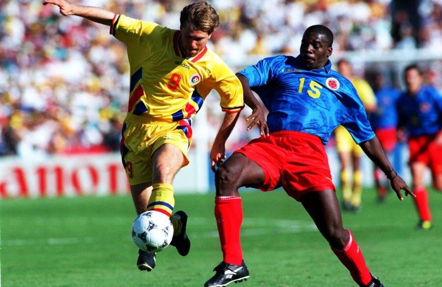 Florin Răducioiu, într-o cursă memorabilă făcută în partida cu Columbia