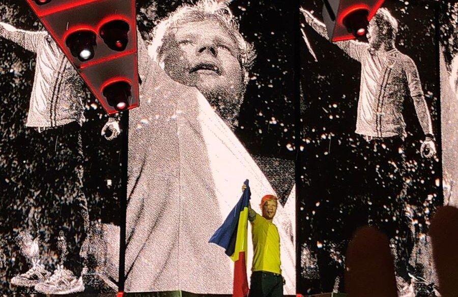 Ed Sheeran în tricoul naționalei României Foto: Instagram (@hany036)
