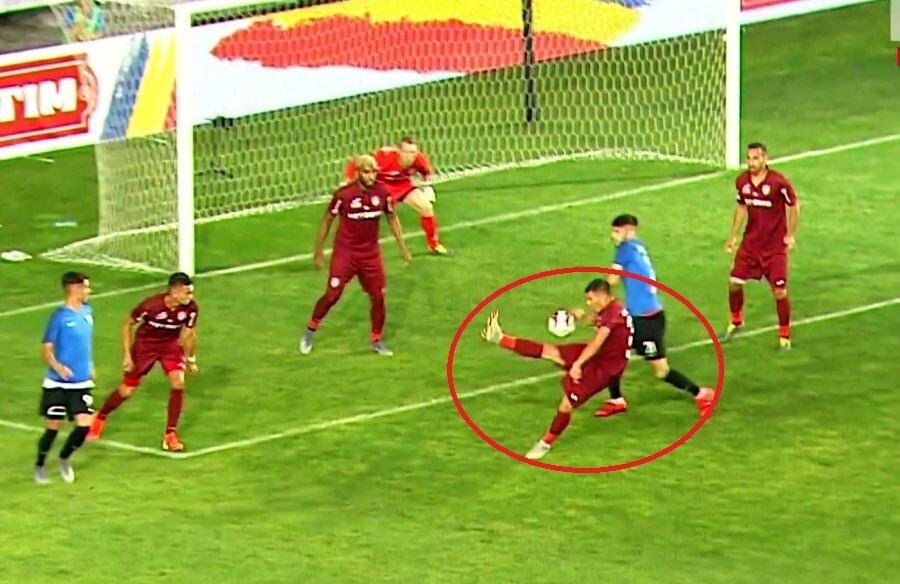 CFR Cluj - Viitorul // Faza controversată din minutul 50, în urma căreia constănțenii au cerut penalty // Capturi TV Telekom Sport