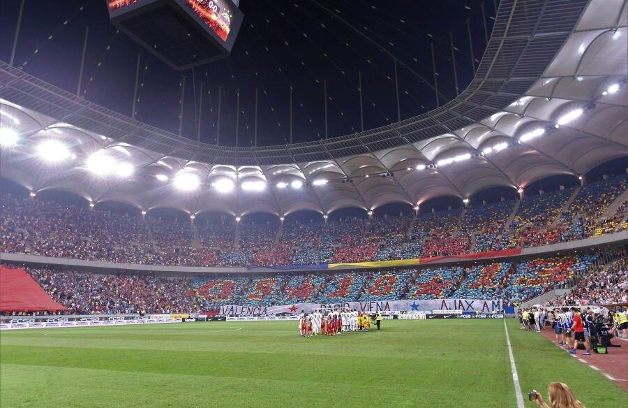 Suporterii FCSB pe Arena Națională