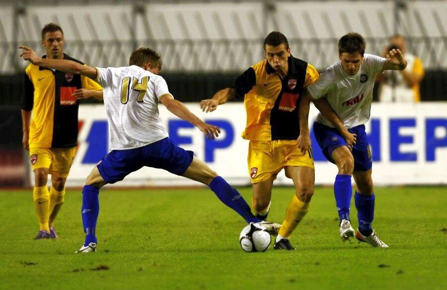 Martin Tomasov, numărul 14 de la Hajduk Split, a înscris două goluri în poarta lui Dinamo în vara lui 2010 // foto: Guliver/Getty Images
