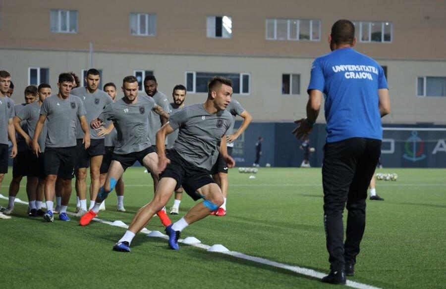 FOTO: Facebook Universitatea Craiova // Antrenamentul oficial înaintea meciului cu Sabail FK