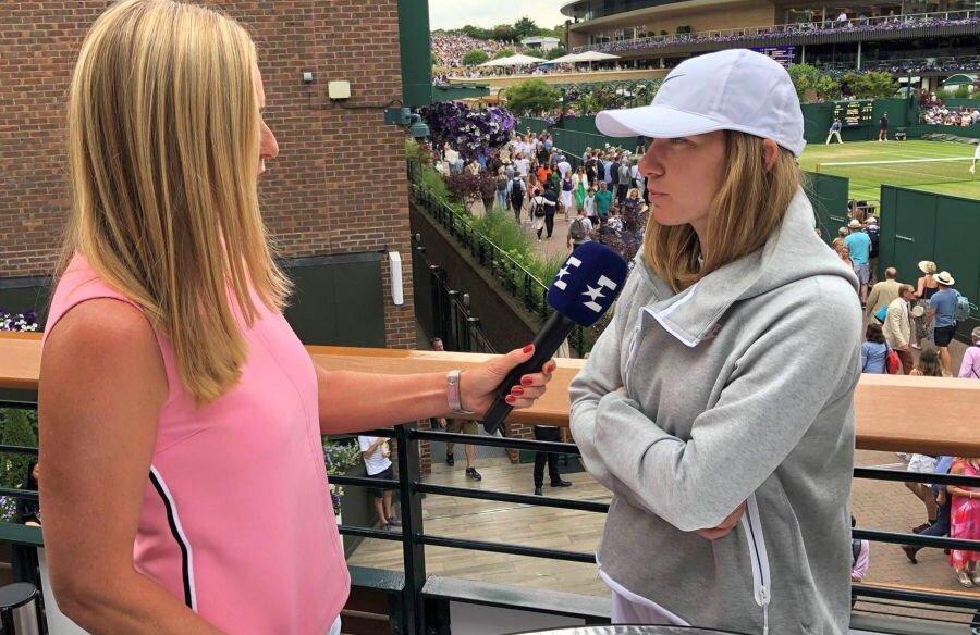 Simona Halep, alături de Barabra Schett, la Wimbledon