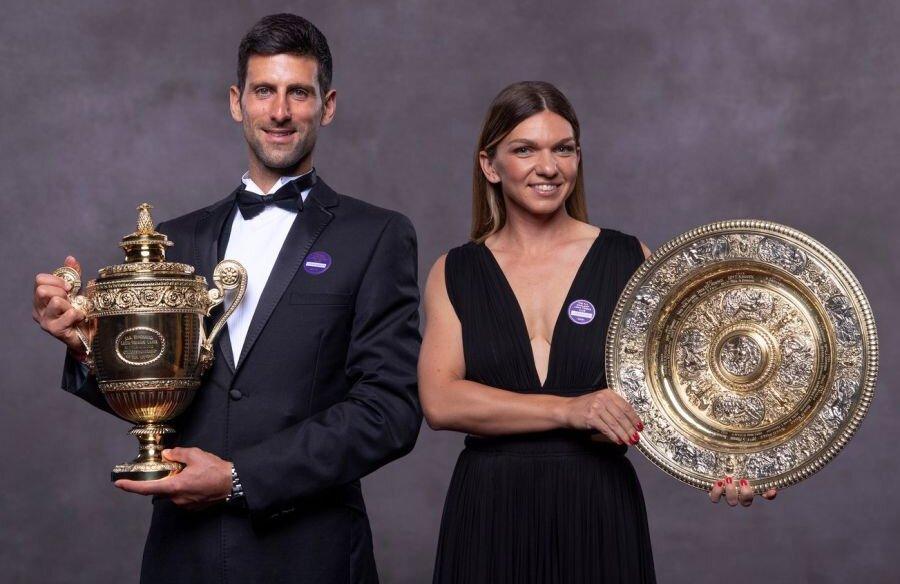 Novak Djokovic și Simona Halep