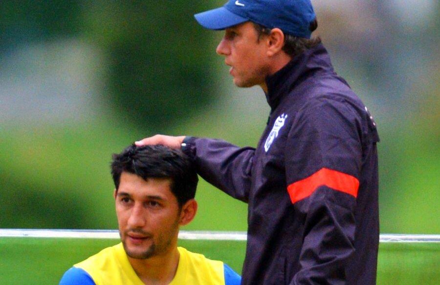 Laurențiu Reghecampf și Florin Costea, în perioada de la FCSB  // foto: Arhivă Gazeta Sporturilor